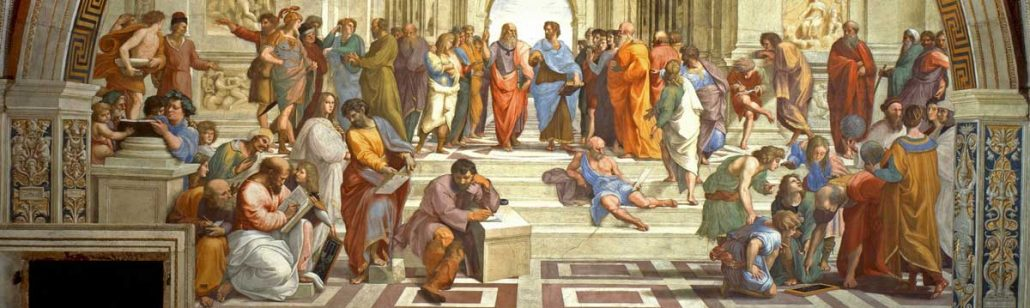 Academy athen 1030x308 - سیر تحول مفهوم فلسفه ی زیبایی از یونان باستان تا عصر روشنگری