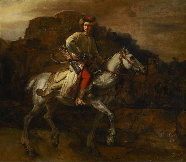 Rembrandt   De Poolse ruiter.1655 1 - رامبراند ، هنرمند نقاش