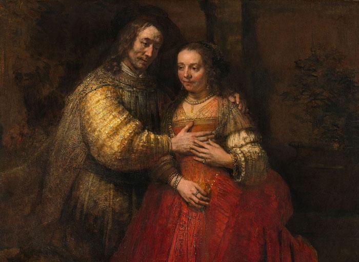 Rembrandt jewish bride - رامبراند ، هنرمند نقاش