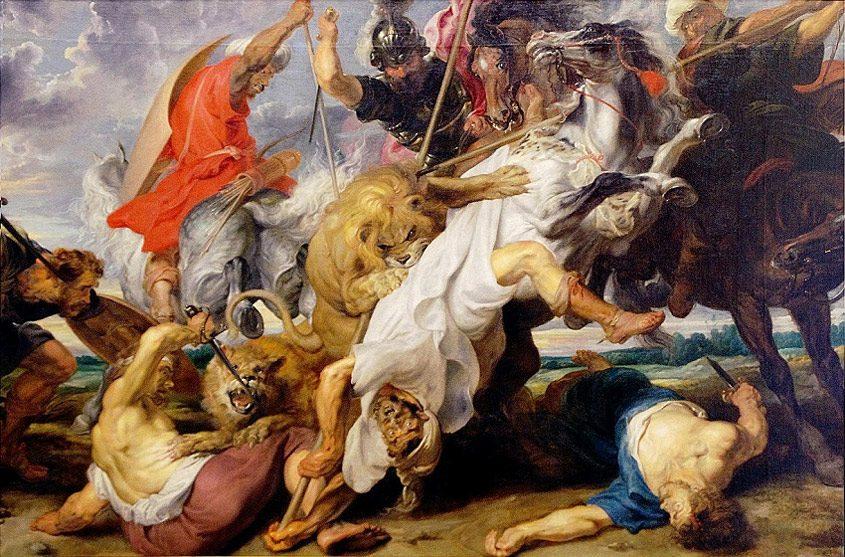 Rubens Lion Hunt 845x557 - رامبراند ، هنرمند نقاش
