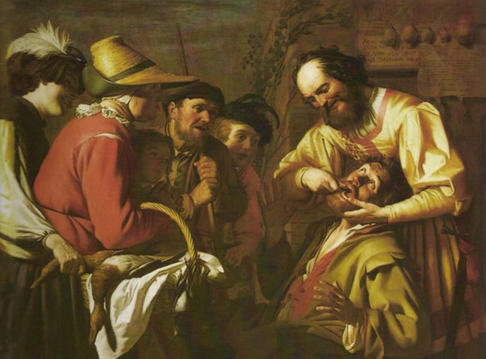 Van Honhorst Tooth Pulling - رامبراند ، هنرمند نقاش