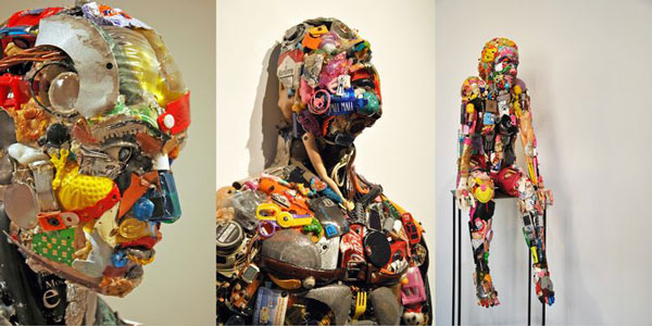 recycled human sculpture 1 - مجسمه سازی با ضایعات