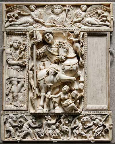 Byzantine sculpture - پیشینه مجسمه سازی