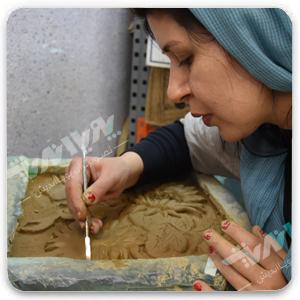 leaning relief - مجسمه سازی ، آموزش مجسمه سازی ، آموزشگاه مجسمه سازی