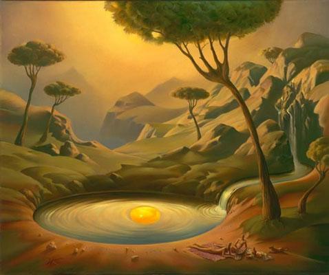 surrealism painting 1 - آموزش نقاشی سورئالیسم