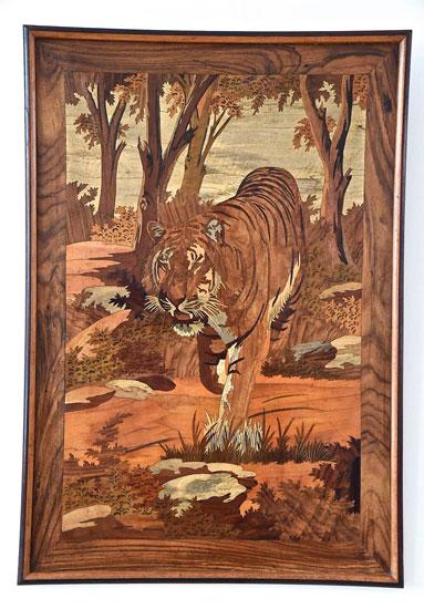 Art Deco tiger wood - معرق کاری چیست