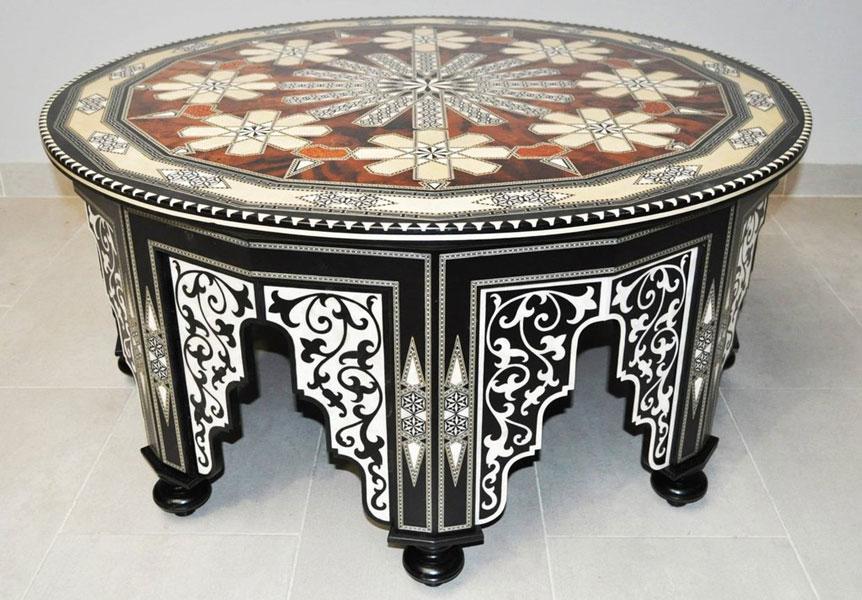 inlay wood table - معرق کاری چیست