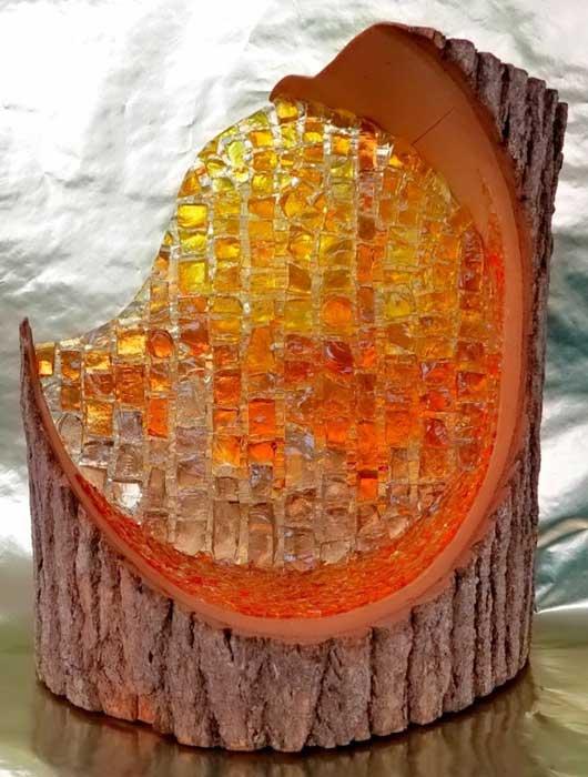 mosaic art - کاشی شکسته روی چوب