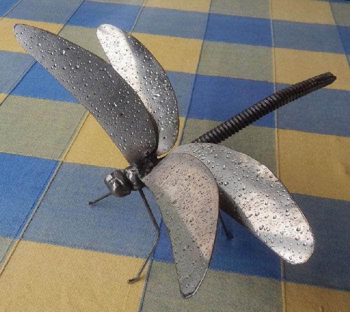 Dragonfly 2 - مراحل ساخت مجسمه فلزی سنجاقک