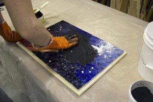 mosaic - روش دوغاب کشی کاشی شکسته