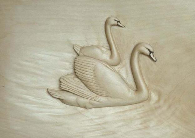 swan - آموزش حکاکی روی چوب ، حکاکی قو