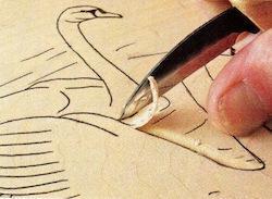 swan carving 2 - آموزش حکاکی روی چوب ، حکاکی قو