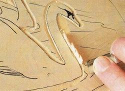 swan carving 4 1 - آموزش حکاکی روی چوب ، حکاکی قو