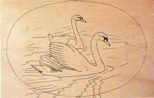 swan carving 1 - آموزش حکاکی روی چوب ، حکاکی قو