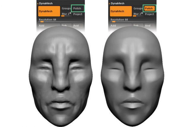 polishing 4 - چگونه بصورت دیجیتالی در ZBrushCore مجسمه سازی کنیم ؟