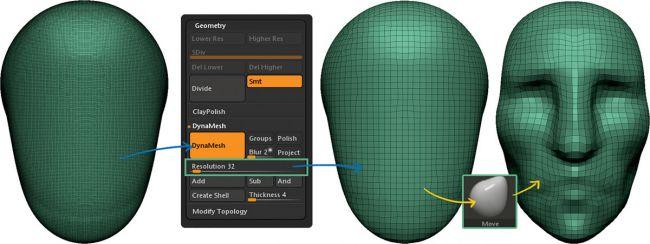 resolution - چگونه بصورت دیجیتالی در ZBrushCore مجسمه سازی کنیم ؟