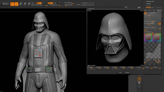 step12 surface - مدل سازی darth vader ( شخصیت فیلم جنگ ستارگان ) در زیبراش