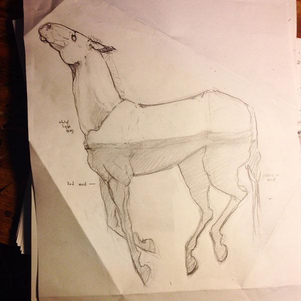 step1 pic4 polymerhorse - آموزش گام به گام ساخت مجسه پلیمری اسب