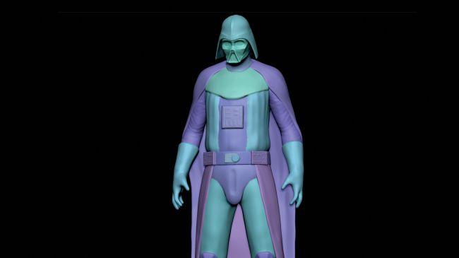 step4 seprate - مدل سازی darth vader ( شخصیت فیلم جنگ ستارگان ) در زیبراش