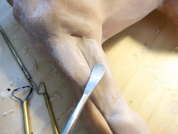 step5 pic1 polymerhorse - آموزش گام به گام ساخت مجسه پلیمری اسب