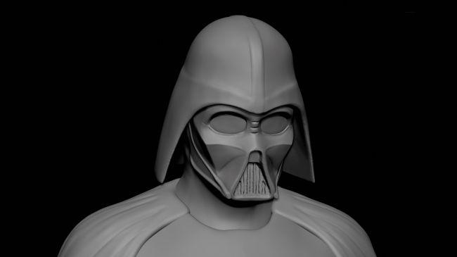 step6 helmet - مدل سازی darth vader ( شخصیت فیلم جنگ ستارگان ) در زیبراش