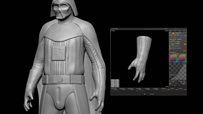 step7 realistic - مدل سازی darth vader ( شخصیت فیلم جنگ ستارگان ) در زیبراش