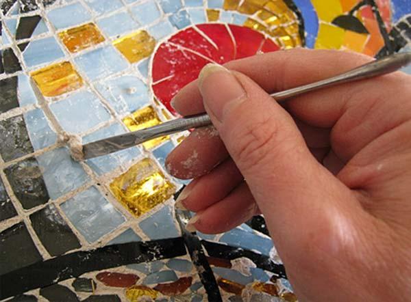 indirect mosaic 11 - روش غیرمستقیم ساخت کاشی شکسته