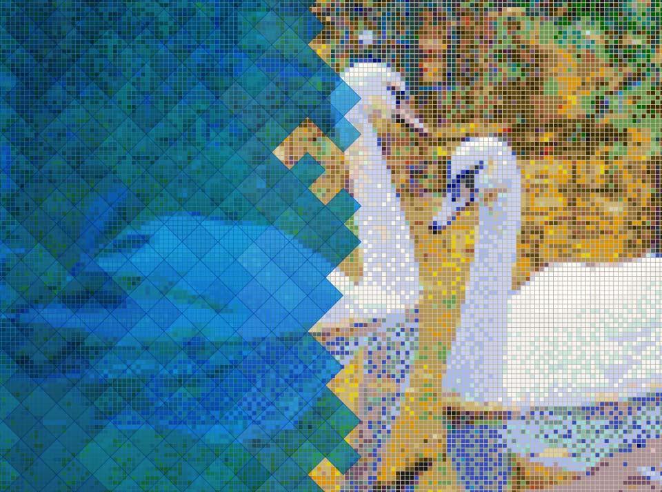 indrect musaic art method - روش غیرمستقیم دوگانه برای ساخت کاشی شکسته