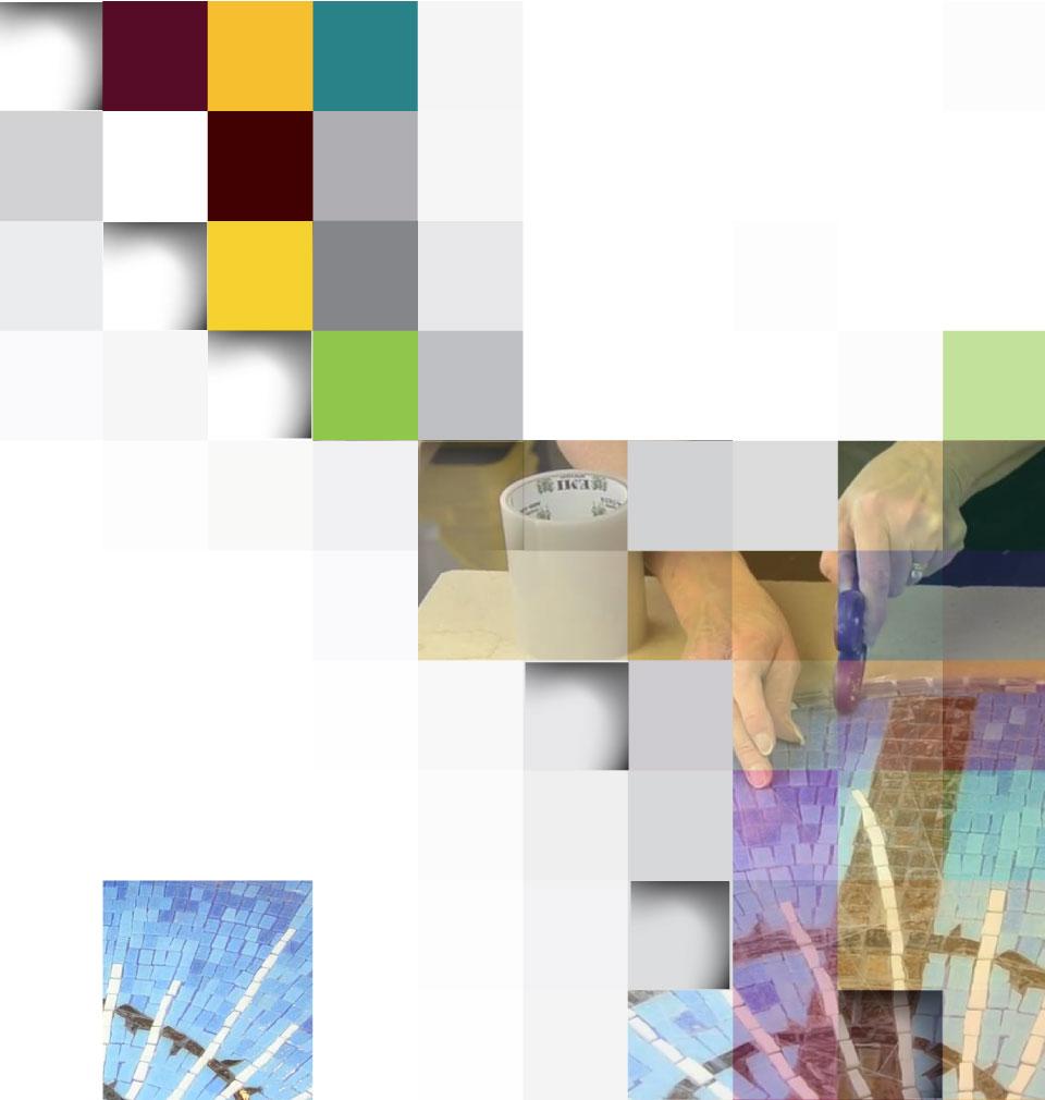musaic arts - روش غیرمستقیم دوگانه برای ساخت کاشی شکسته