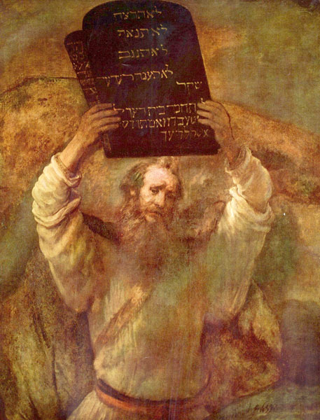 Moses and the en Commandments - رامبراند ، هنرمند نقاش