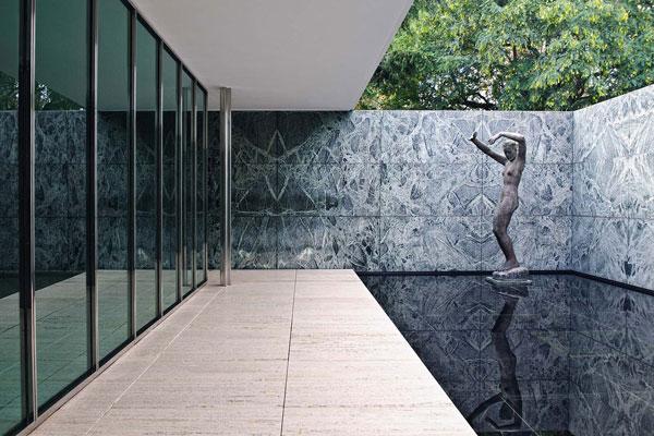 Pavilion Mies van der Rohe - تاملی در رابطه معماری و مجسمه سازی