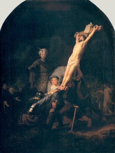 Rembrandt RaisingoftheCross - رامبراند ، هنرمند نقاش