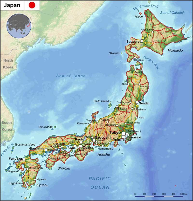 geography japan - هنر و تمدن شرق ( ژاپن )