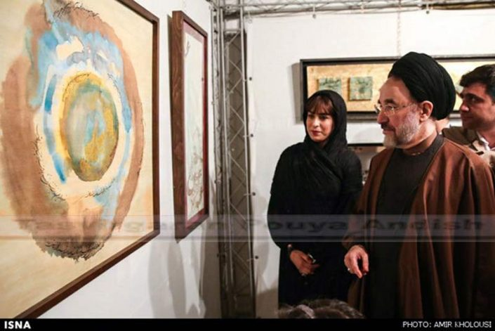 khatami pouya andish  1 705x471 - نمایشگاه نقاشیخط