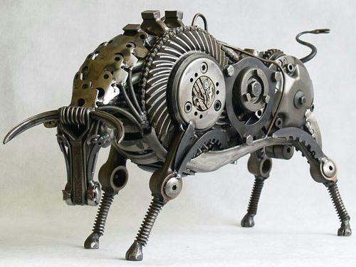 mojasamesazi ba zayeat 3 500x375 - مجسمه سازی با ضایعات