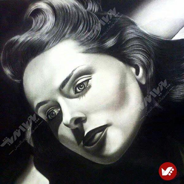 naghashi siah ghalam 1 - نقاشی سیاه قلم