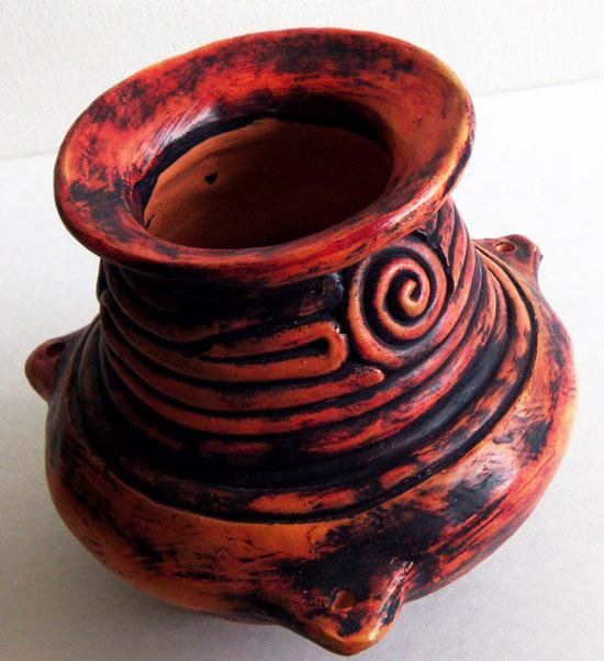patina pottery - کاربرد پتینه روی سفال