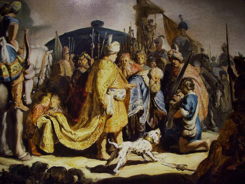 rembrandt  david  and  Goliath - رامبراند ، هنرمند نقاش