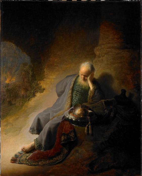 rembrandt jeremiah lamenting - رامبراند ، هنرمند نقاش