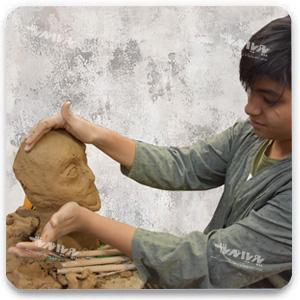 مجسمه سازی نوجوانان