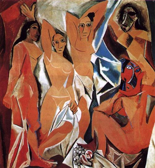 Maidens avignon - نقاشی کوبیسم