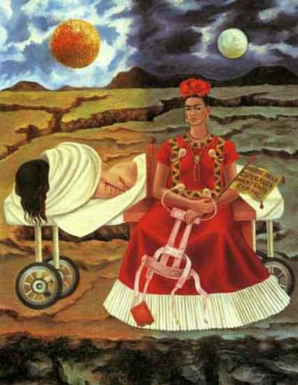 frida kahlo 2 - آموزش نقاشی سورئالیسم