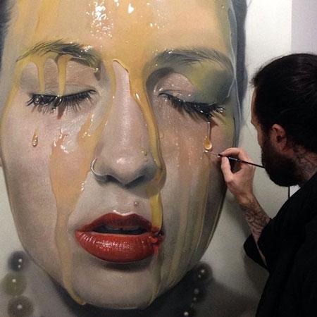 hyperrealism art - نقاشی هایپررئالیسم