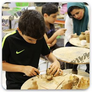 pottery for kids - مجسمه سازی ویژه نوجوانان