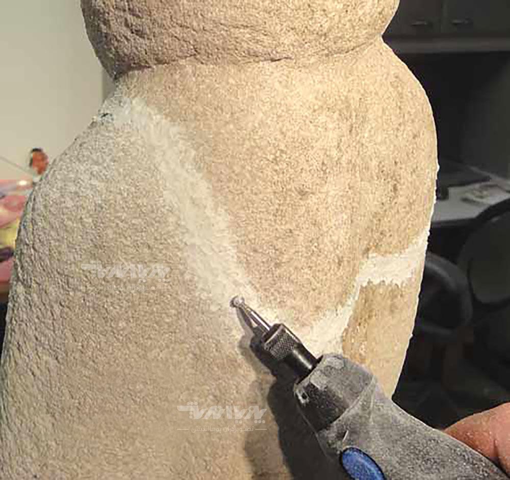15 - بازسازی مجسمه سنگی