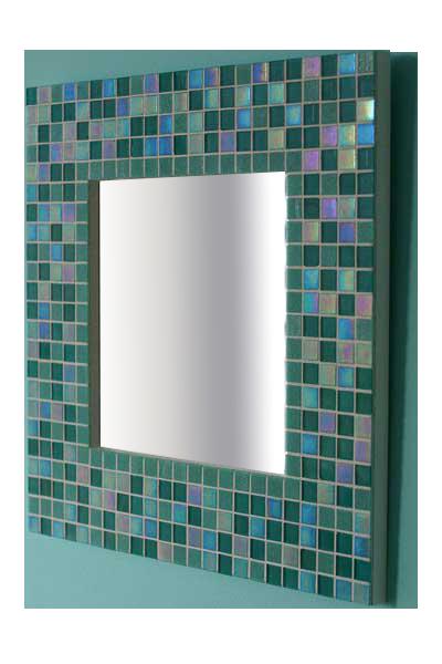 mosaic bathroom mirror - کاشی شکسته روی آینه
