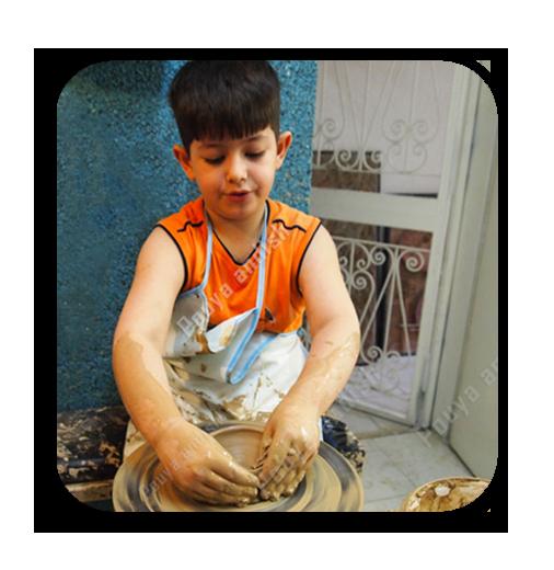 a5 - سفالگری کودکان