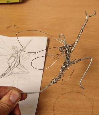 wired sculpture 0 - نحوهی ساخت مجسمههای سیمی