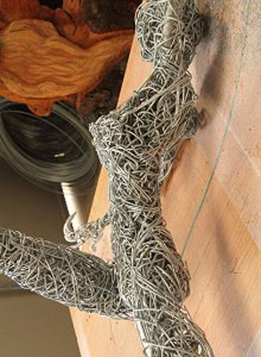 wired sculpture 12 - نحوهی ساخت مجسمههای سیمی