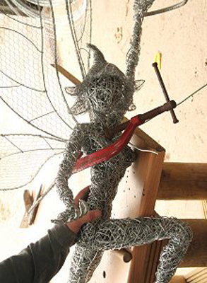 wired sculpture 20 - نحوهی ساخت مجسمههای سیمی
